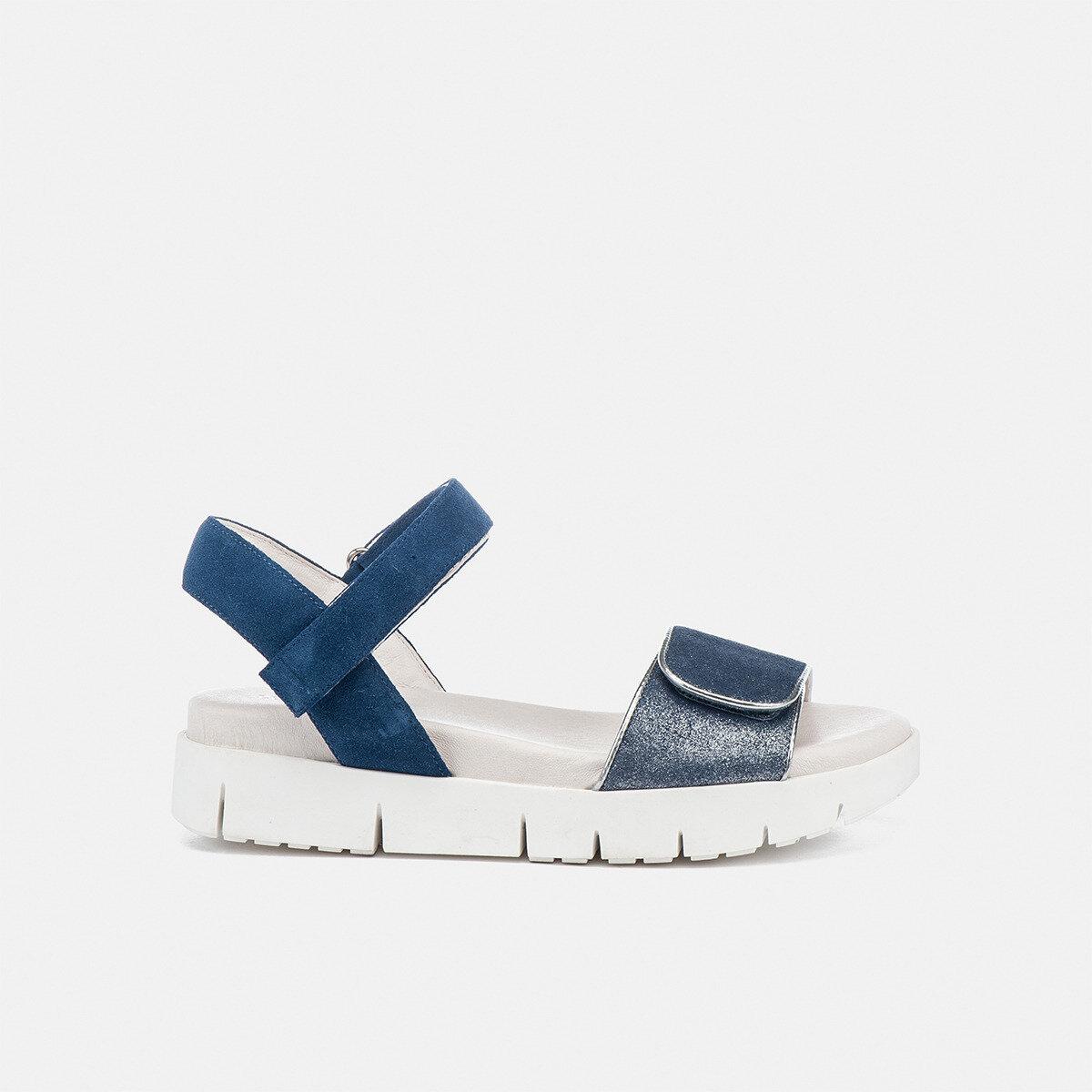 EVETTE JEANS/BLUE METAL Woman Sandals
