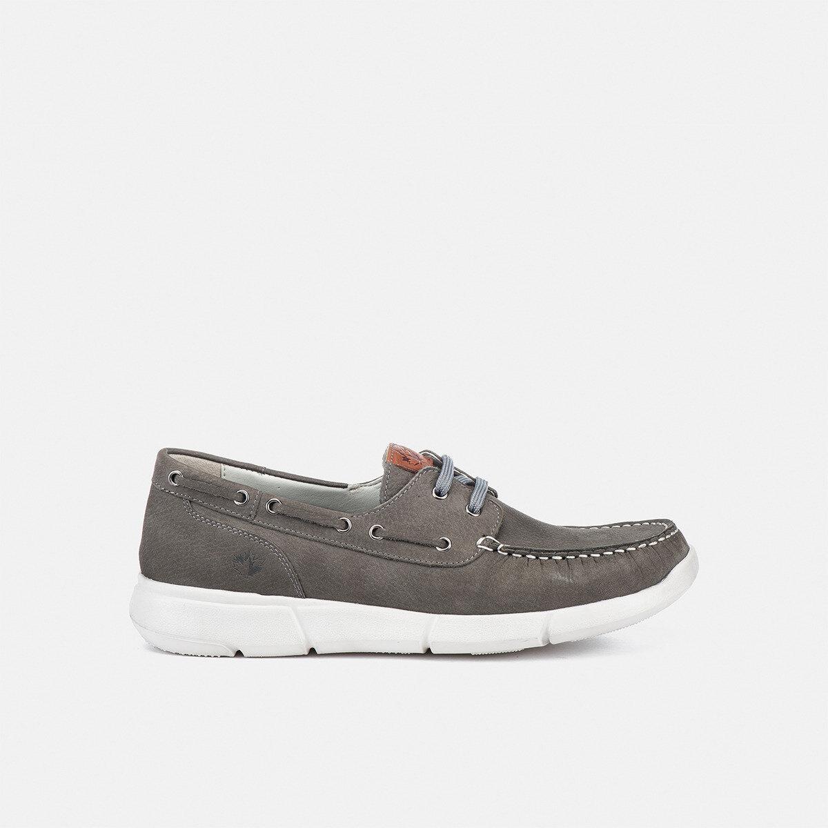 LEAF ASH GREY Man Boat shoes
