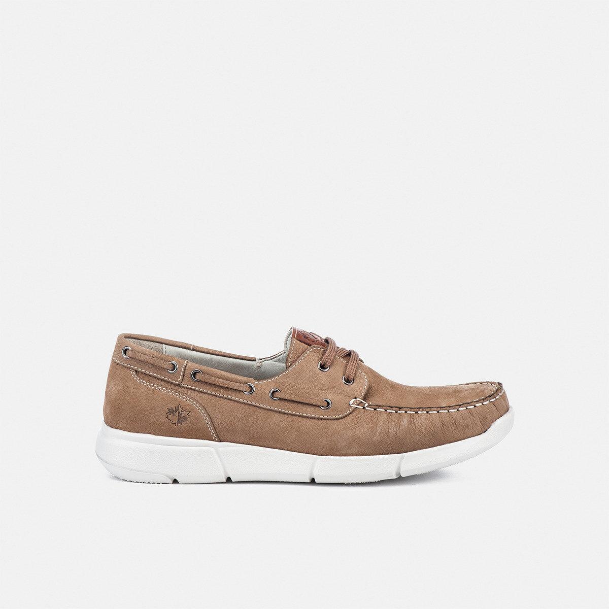 LEAF MOUTON SAND Man Boat shoes