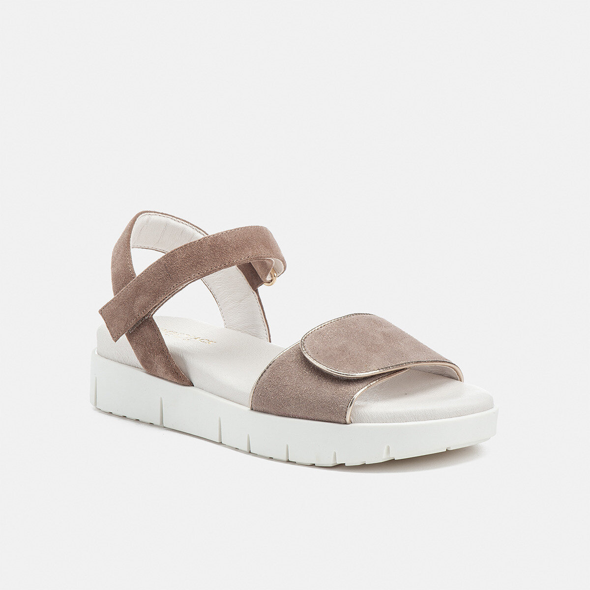 EVETTE TAUPE/GOLD METAL Woman Sandals