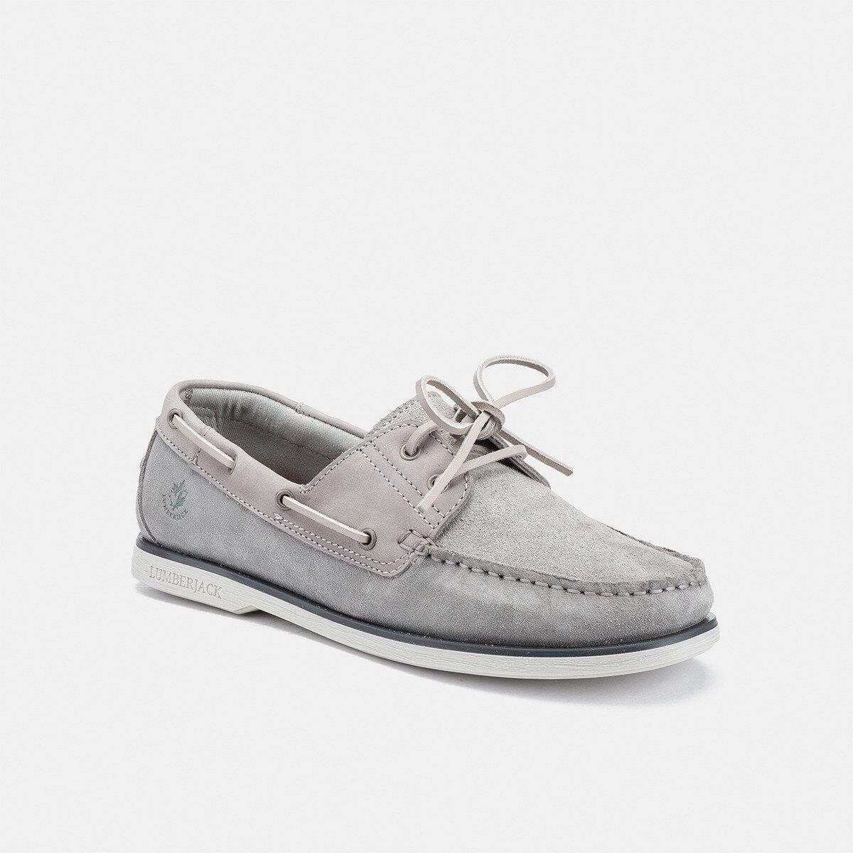 NAVIGATOR ASH GREY/CIMENT GREY Man Boat shoes