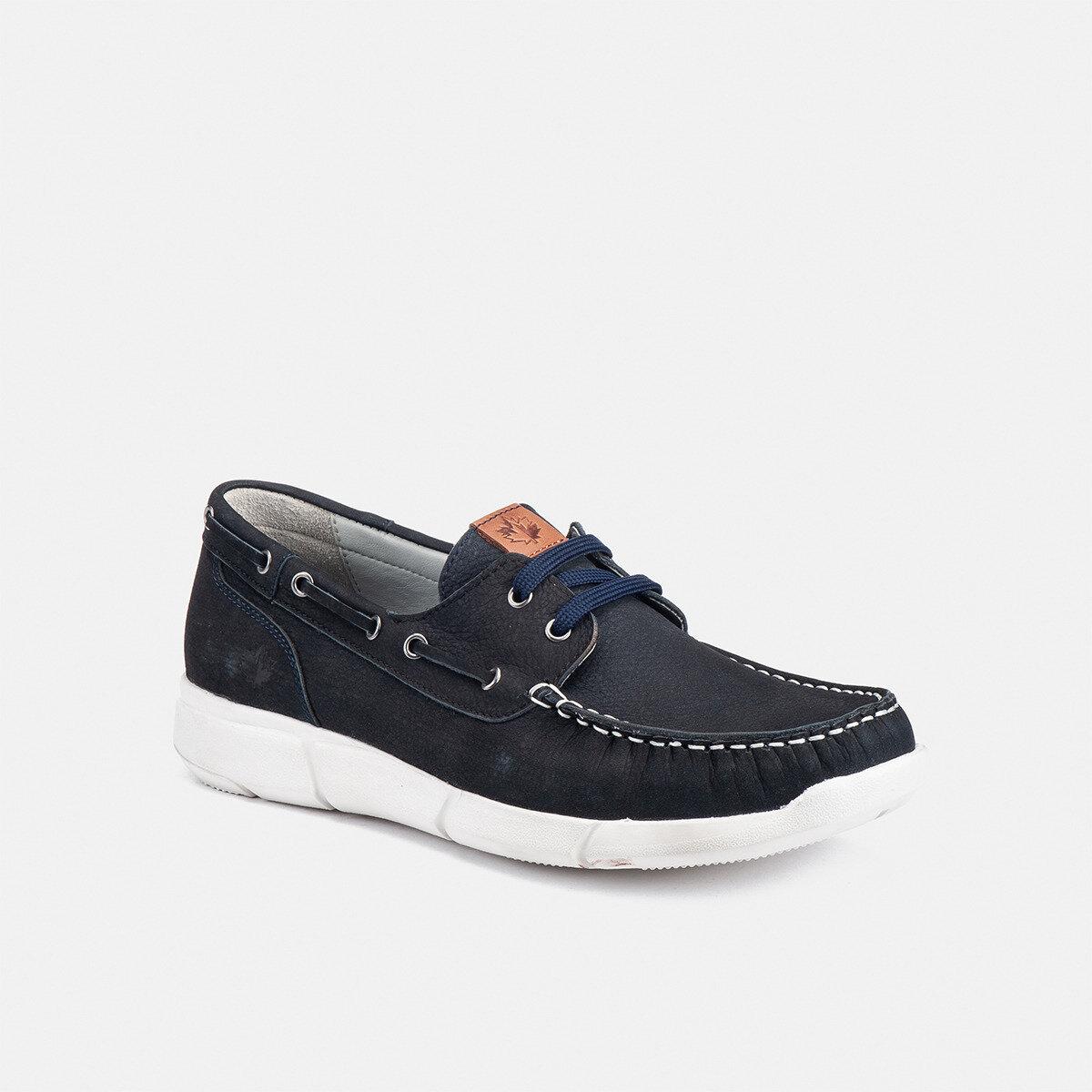 LEAF UNIVERSE BLUE Man Boat shoes