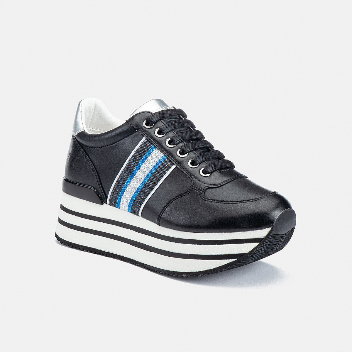 CONNIE BLACK/SILVER Woman Sneakers