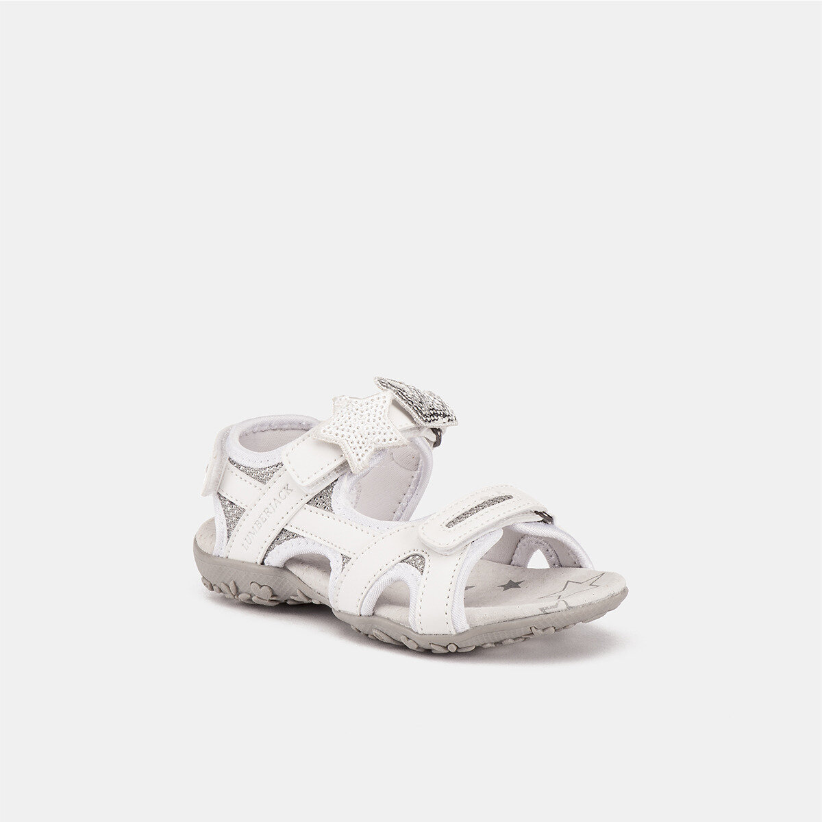 LINDA WHITE/SILVER Girl Sandals