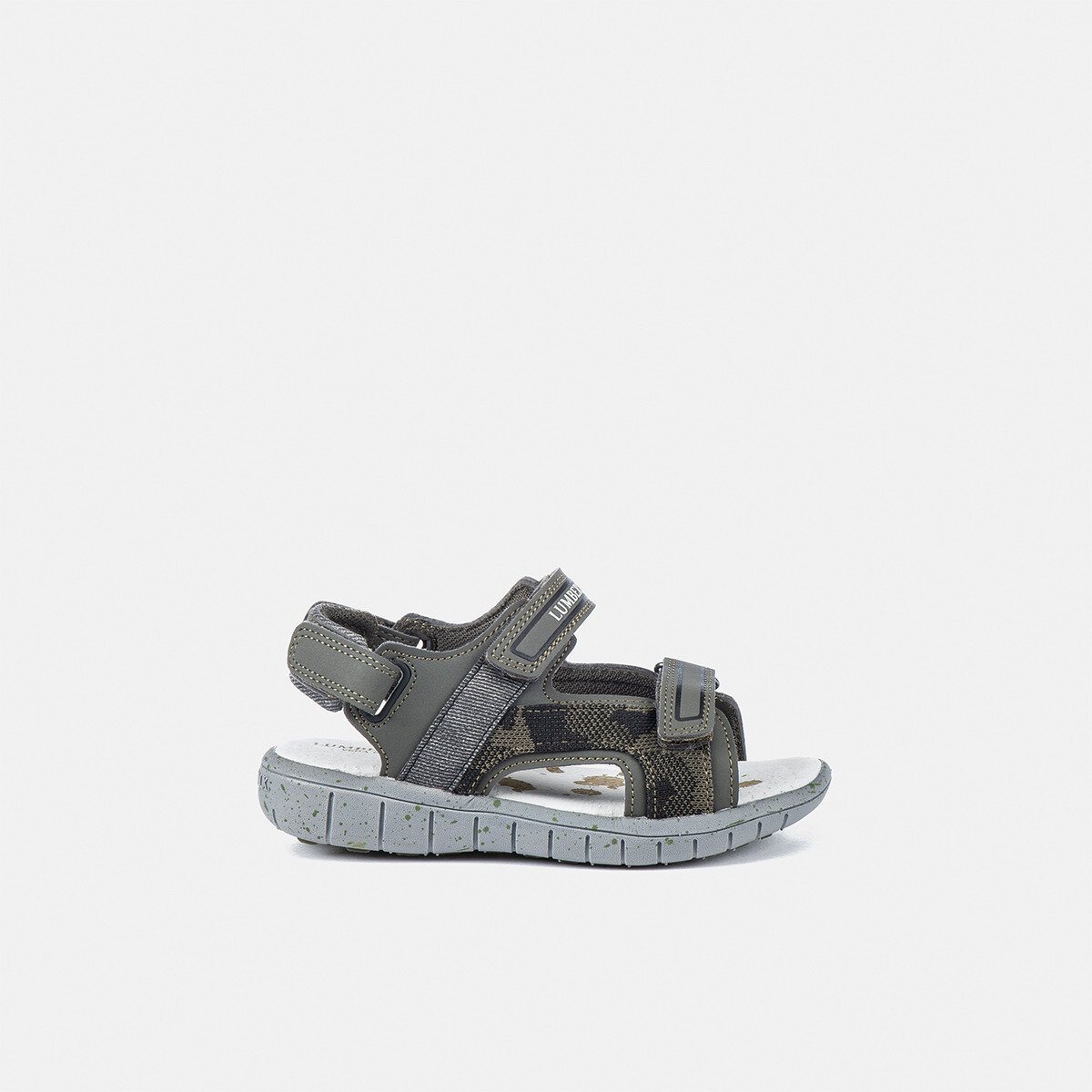 SPONGY MILITARY GREEN Boy Sandals