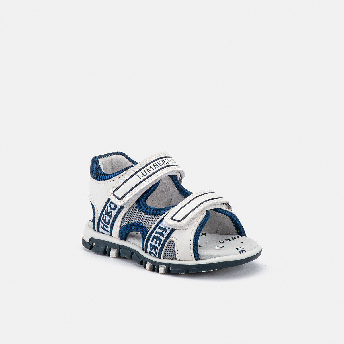 BILLY WHITE/NAVY BLUE Boy Sandals
