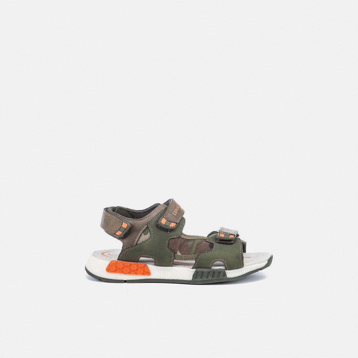 CORSY MILITARY GREEN/ORANGE Boy Sandals