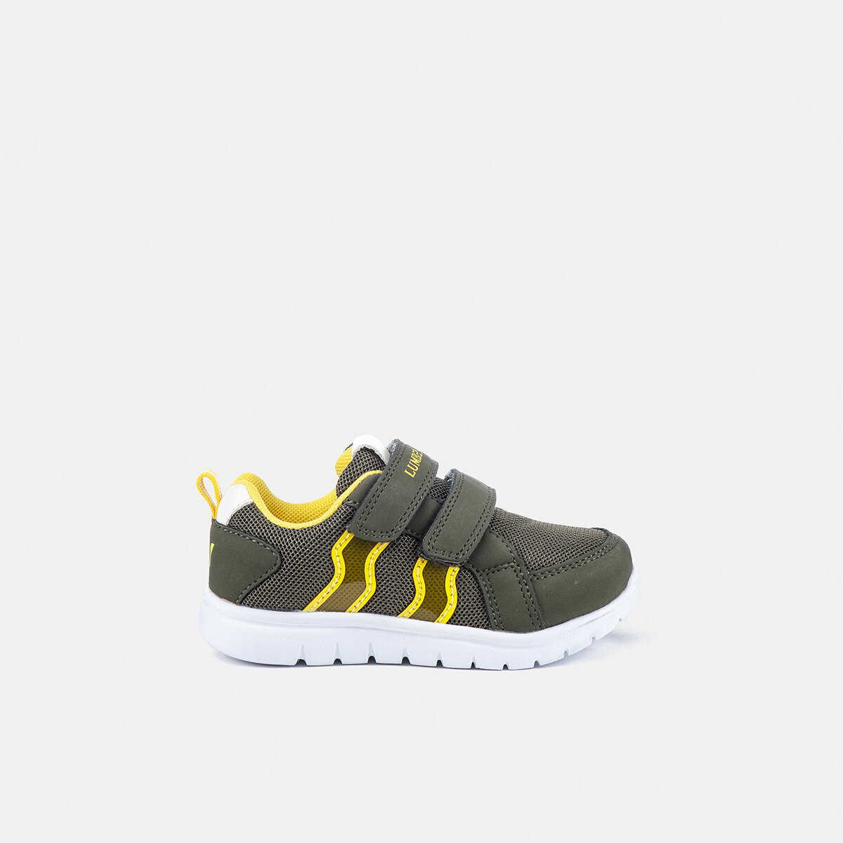 CRASH MILITARY GREEN/YELLOW Boy Sneakers
