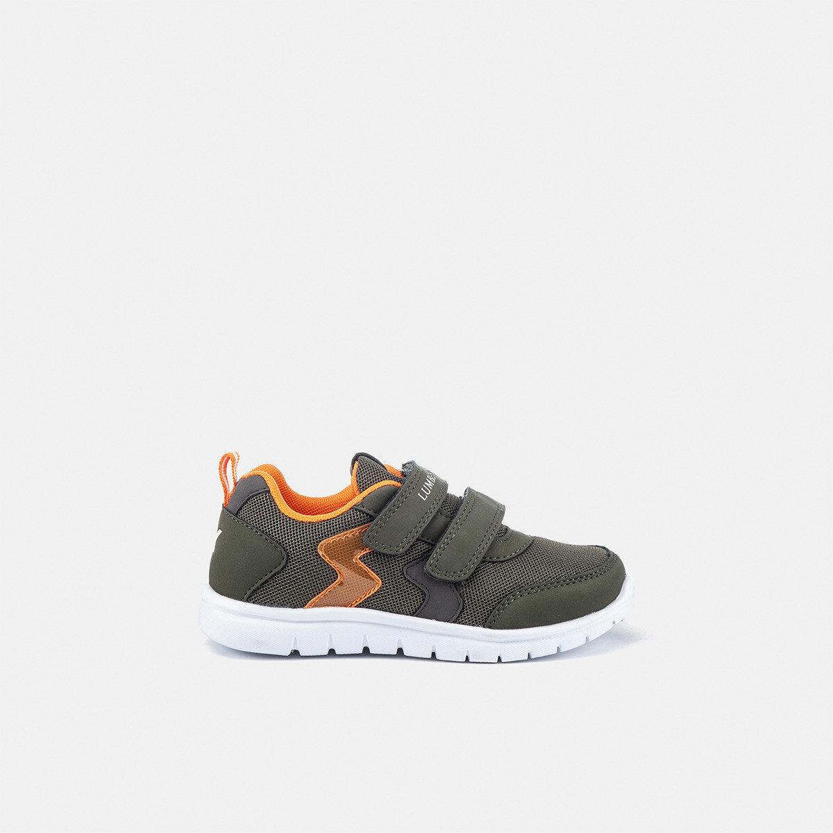 CRASH MILITARY GREEN/ORANGE Boy Sneakers