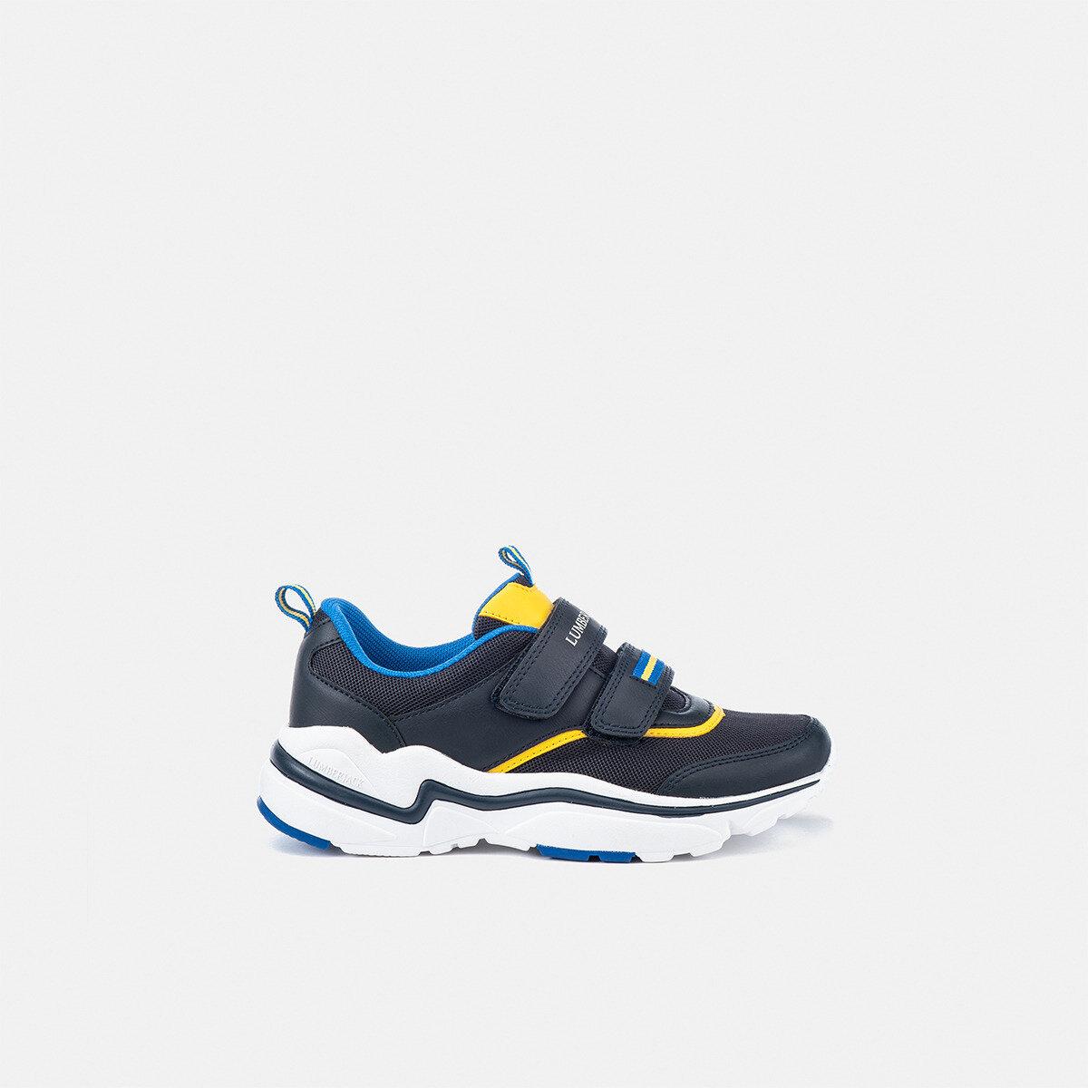 DREW NAVY BLUE/YELLOW Boy Sneakers
