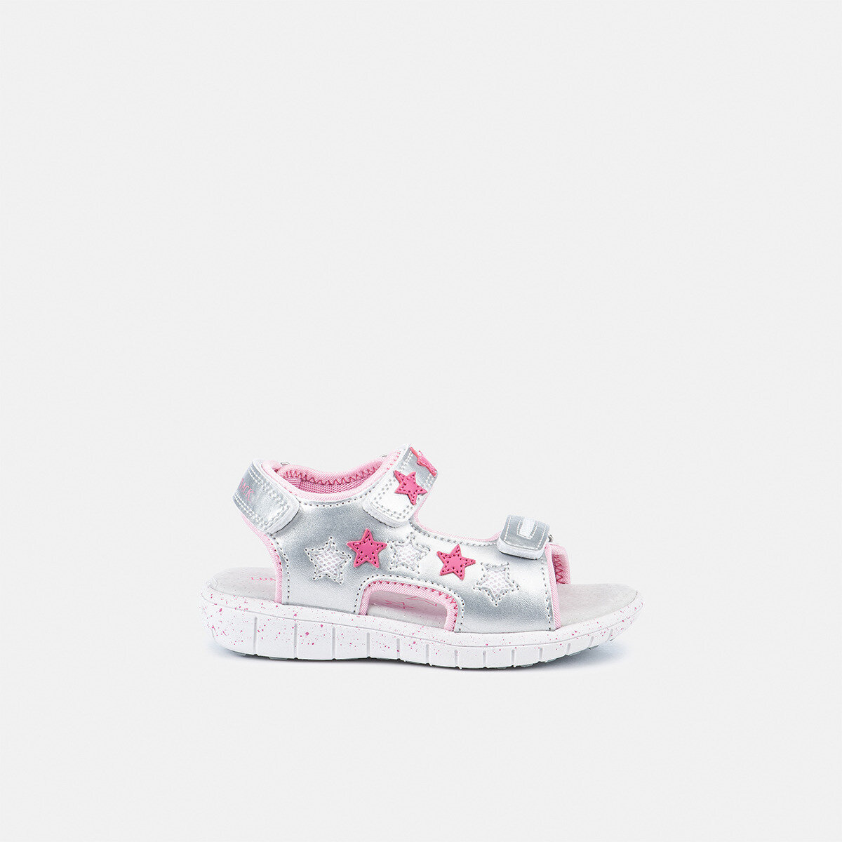 SPONGY SILVER/FUXIA Girl Sandals
