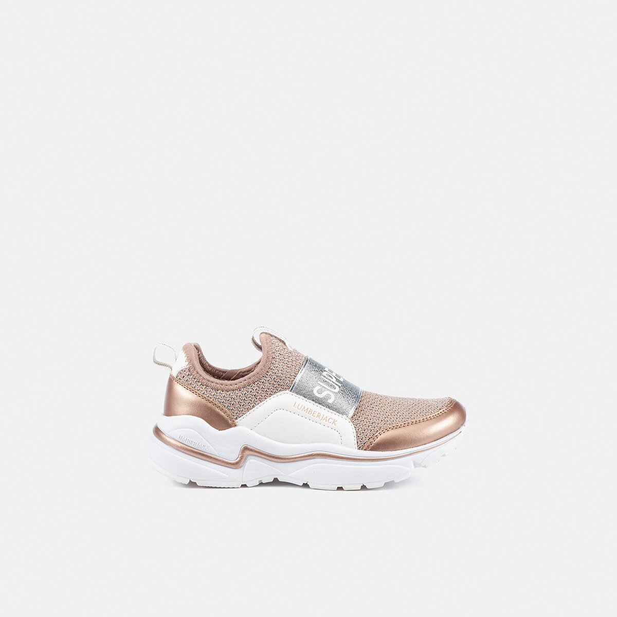 DREW ANTIQUE PINK/SILVER Girl Sneakers