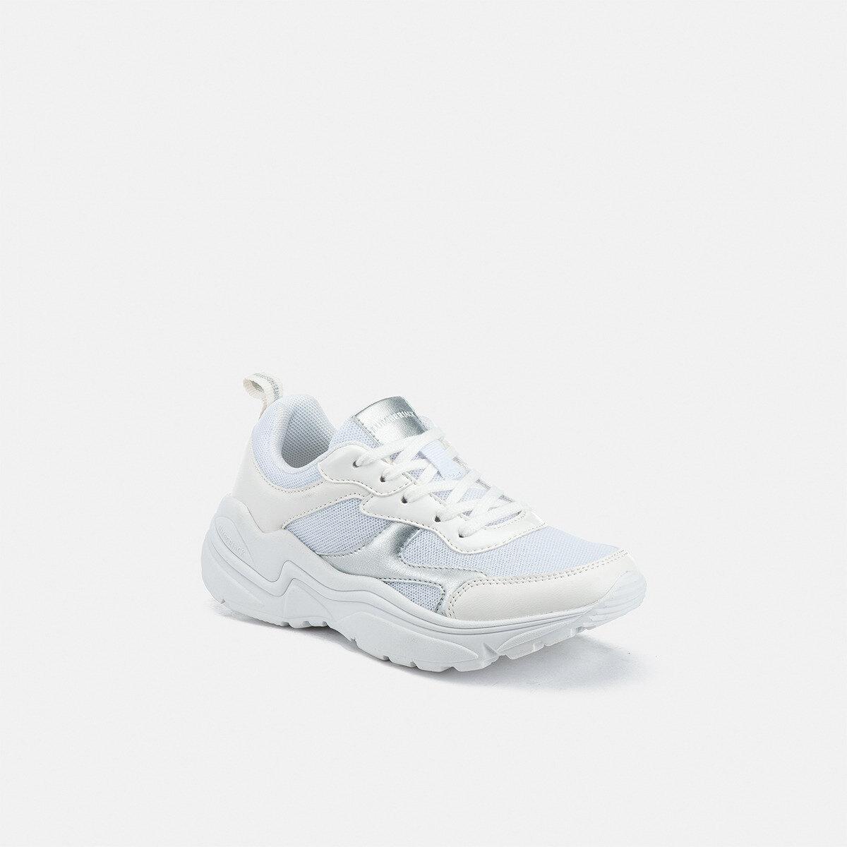 DREW WHITE/SILVER Girl Sneakers