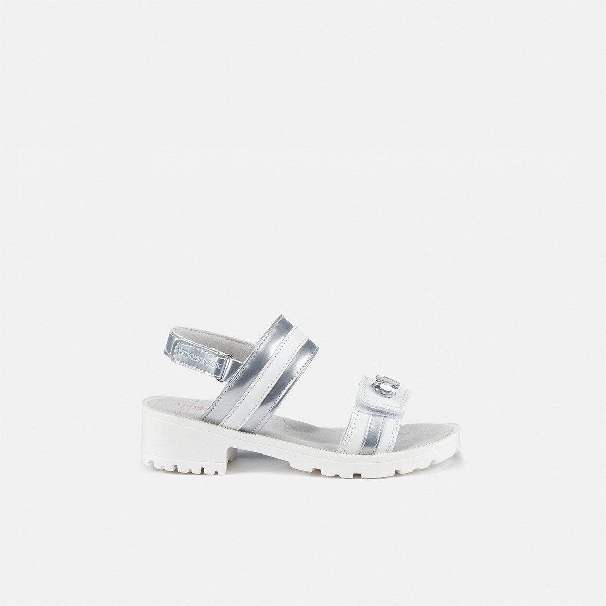 EVIEN WHITE/SILVER Girl Sandals