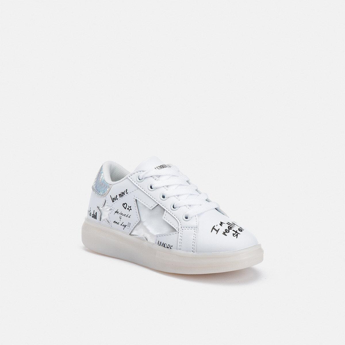 WRITER WHITE/SILVER Girl Sneakers
