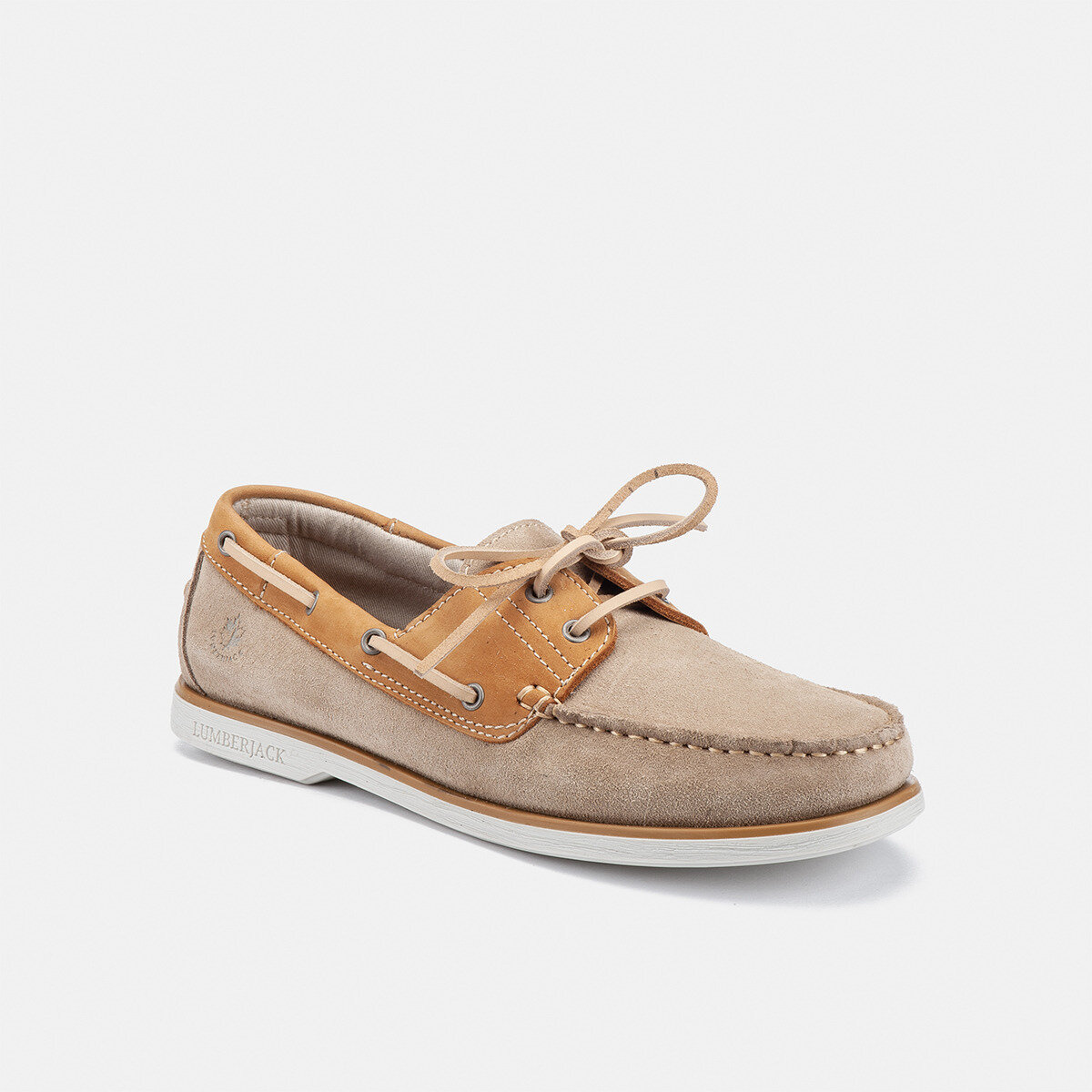 NAVIGATOR MOUTON SAND/YELLOW Man Boat shoes