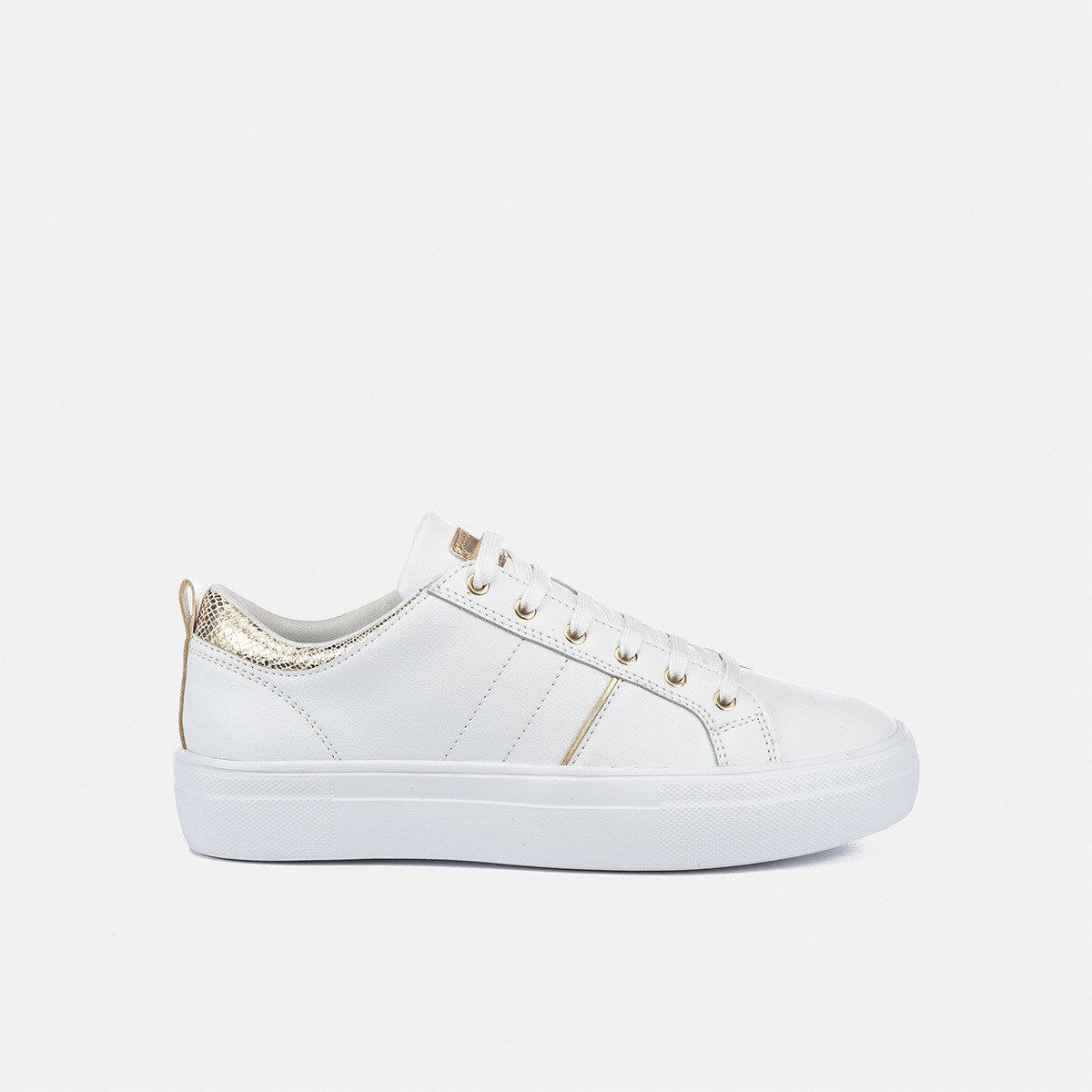 DORIS WHITE/GOLD Woman Sneakers