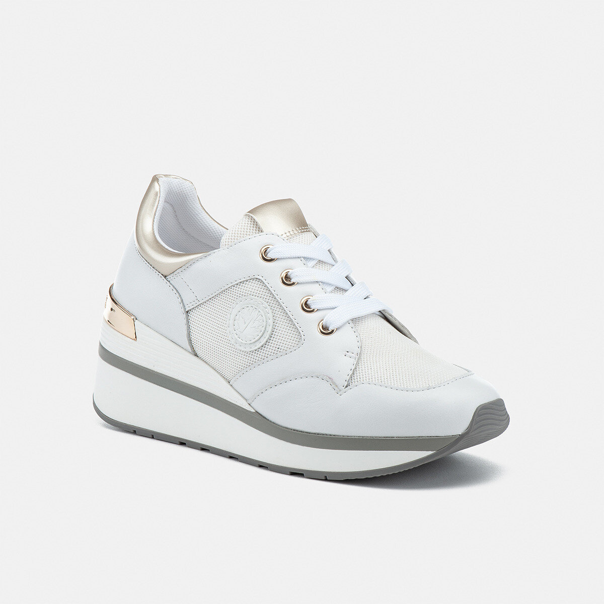 MILA WHITE/PLATINO Woman Sneakers