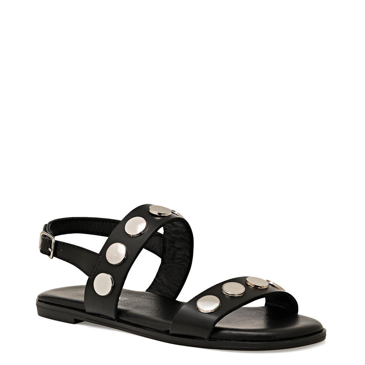 ACT Siyah Kadın Düz Sandalet