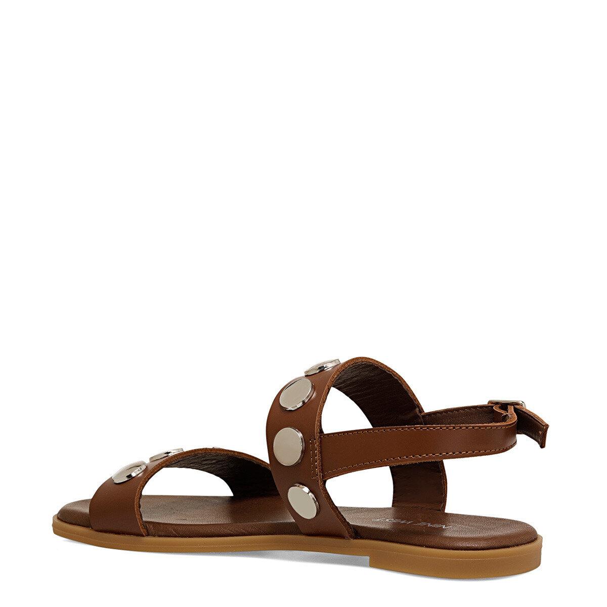 ACT Kahverengi Kadın Düz Sandalet