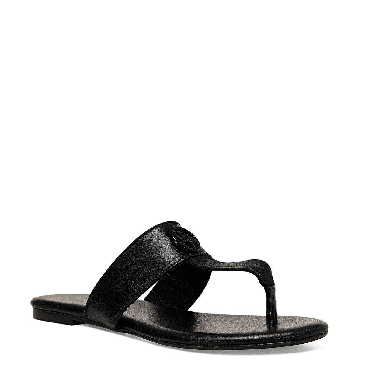 AVA Siyah Kadın Parmak Arası Sandalet