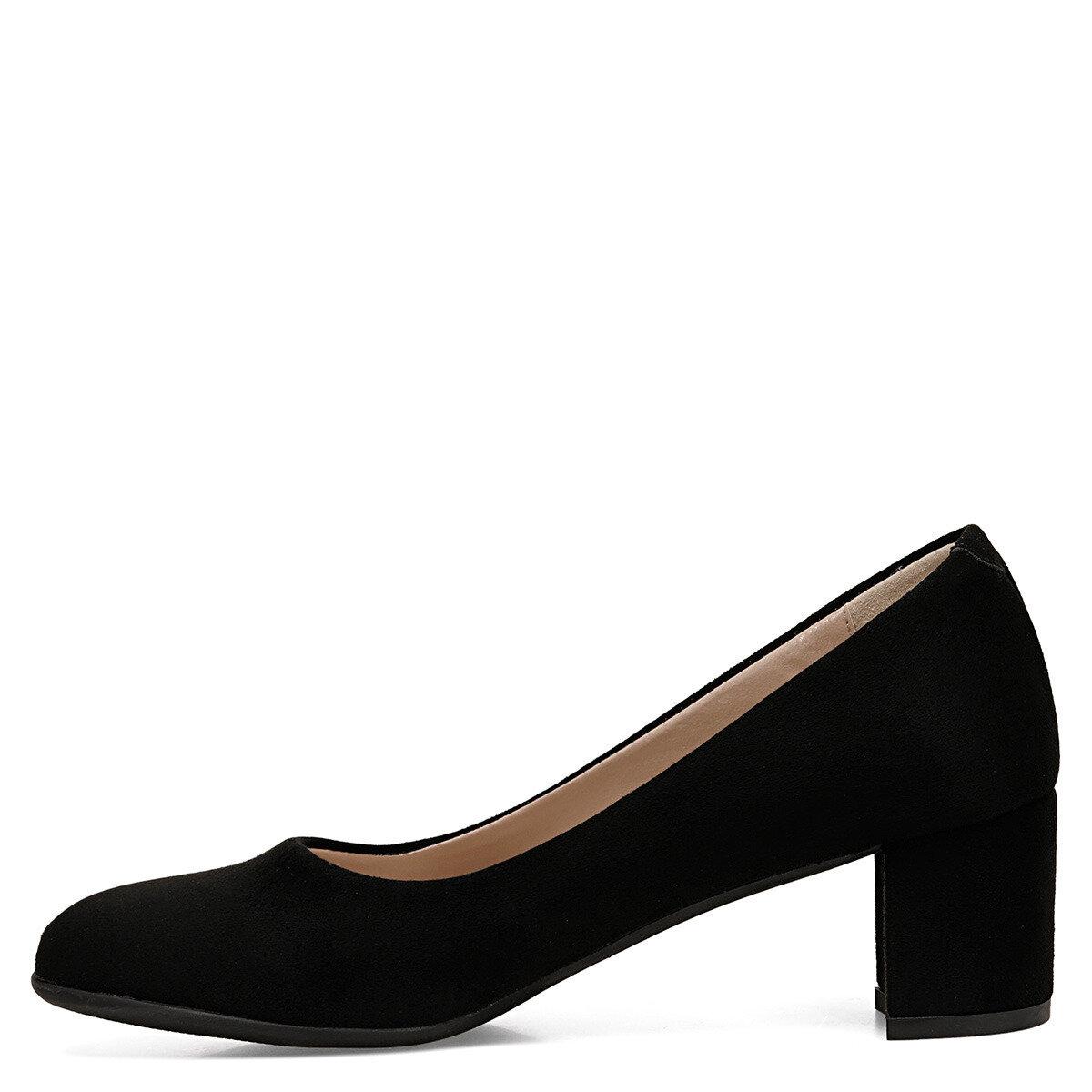 LELANO Siyah Kadın Topuklu Ayakkabı