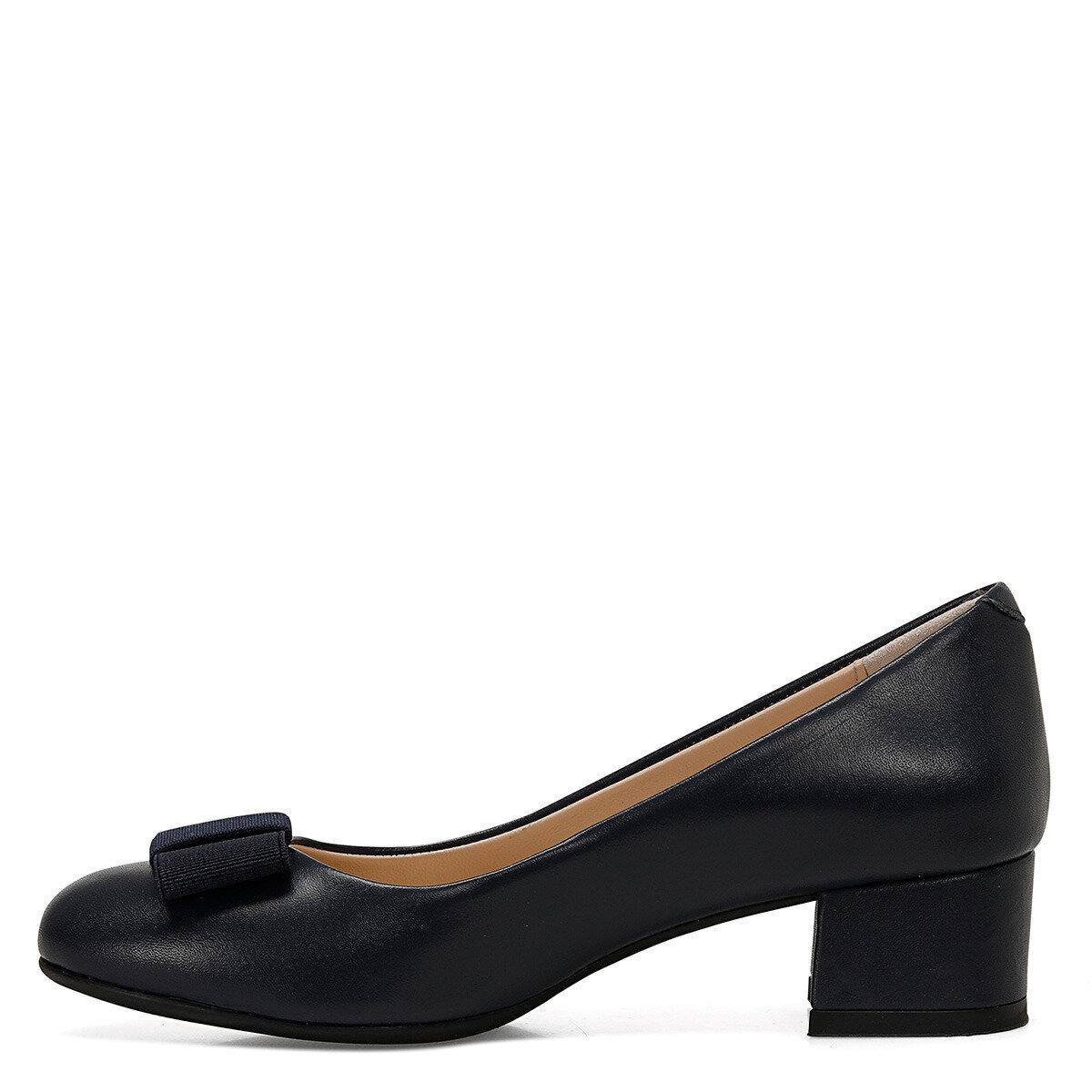 LENI Lacivert Kadın Topuklu Ayakkabı
