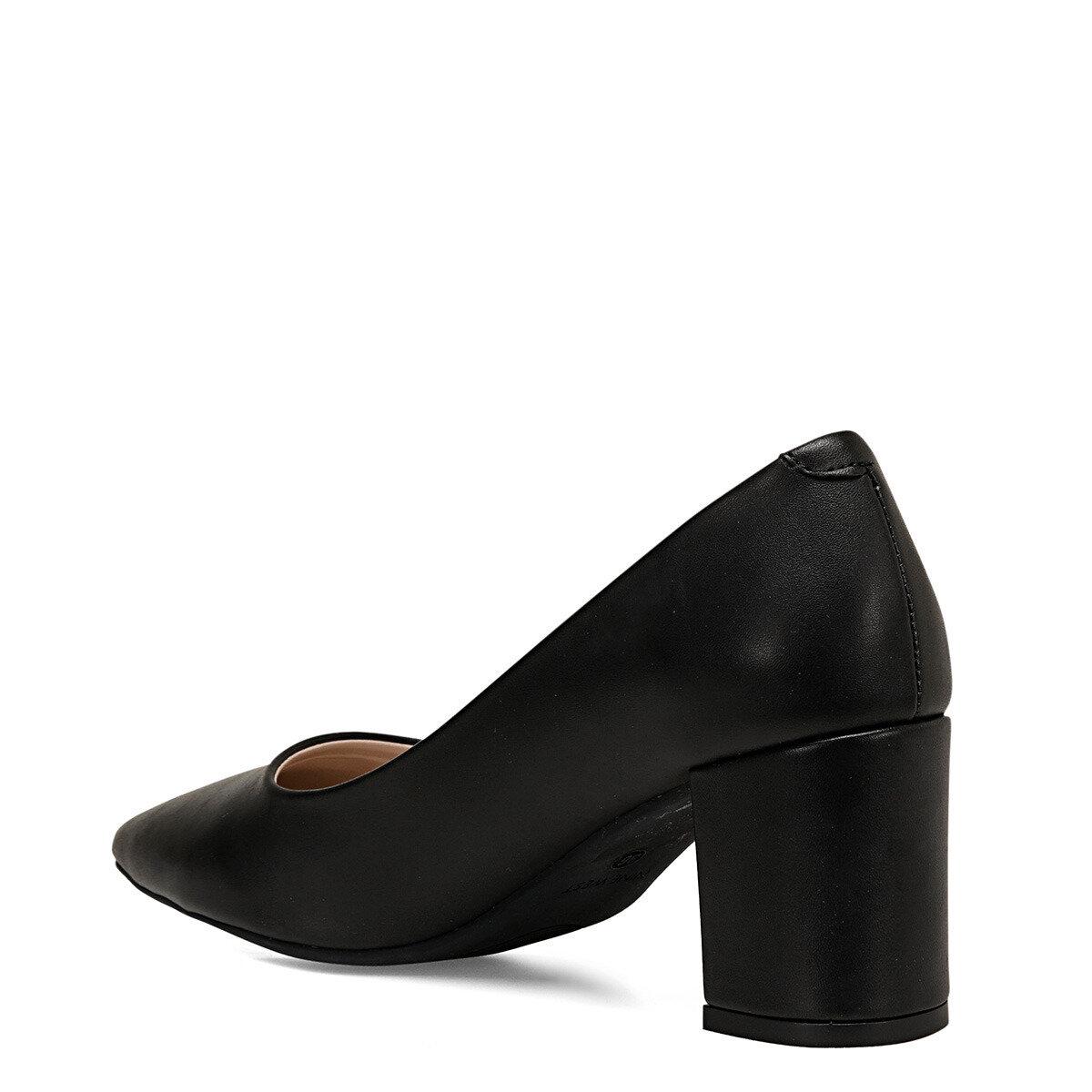 LEZIO Siyah Kadın Topuklu Ayakkabı