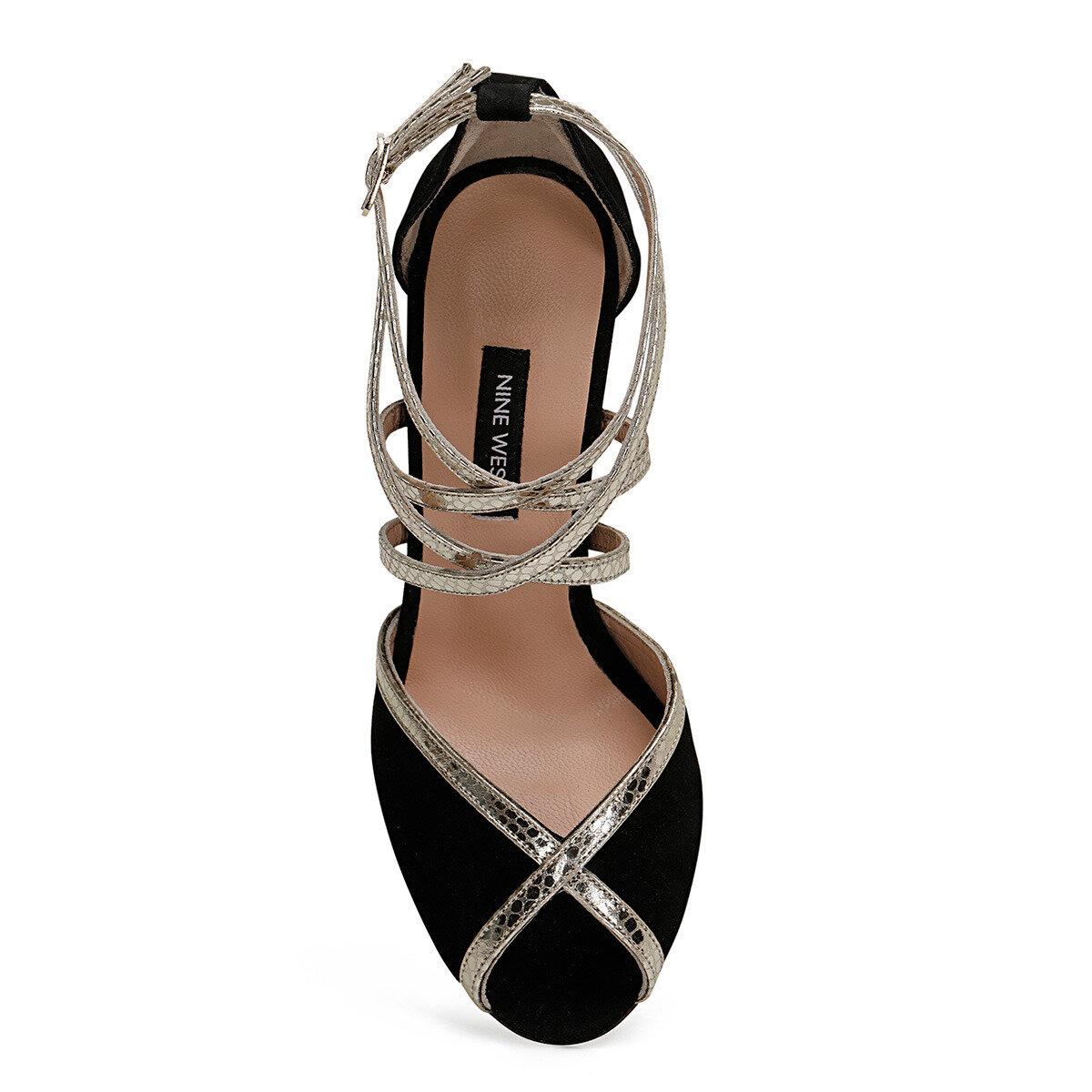 TROBA Siyah Kadın Topuklu Sandalet