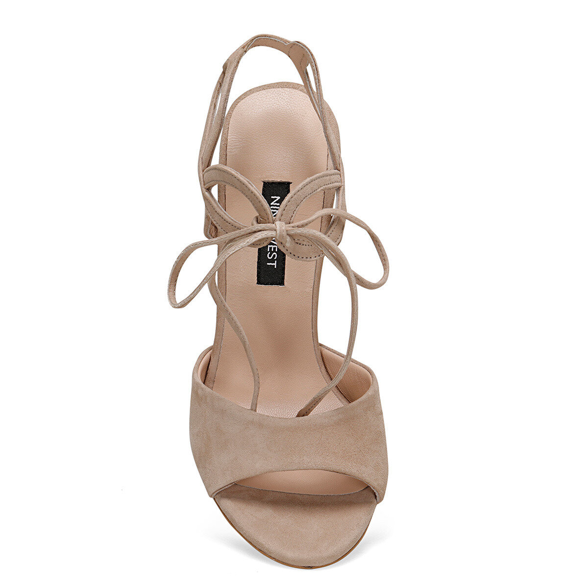 TRONE Bej Kadın Topuklu Sandalet
