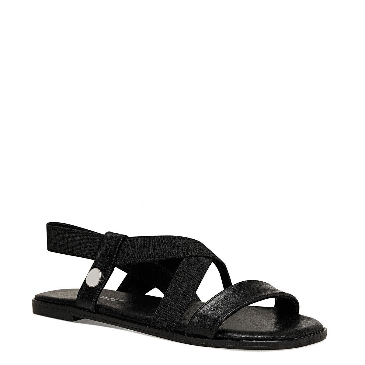 ALIZA Siyah Kadın Düz Sandalet