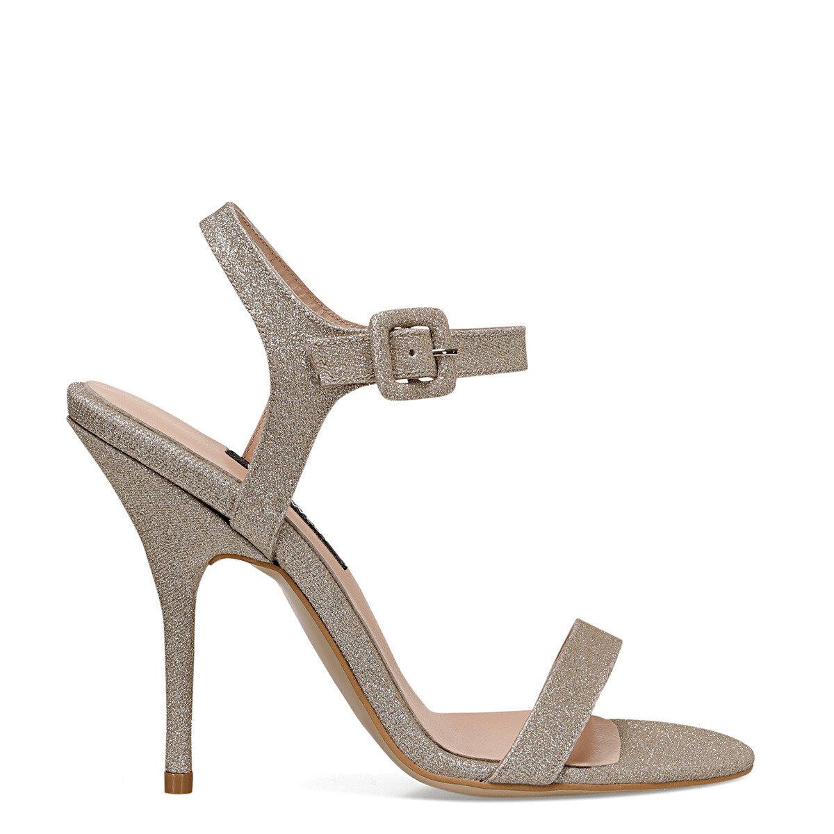 TALLY3 Altın Kadın Topuklu Sandalet