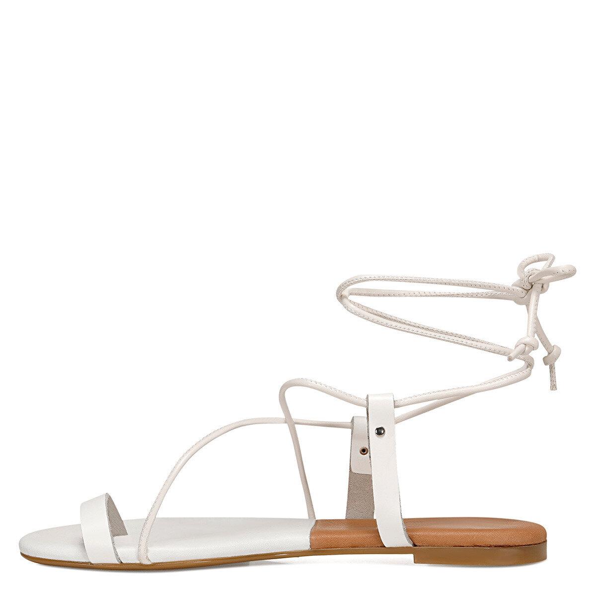 ALEX Beyaz Kadın Parmak Arası Sandalet