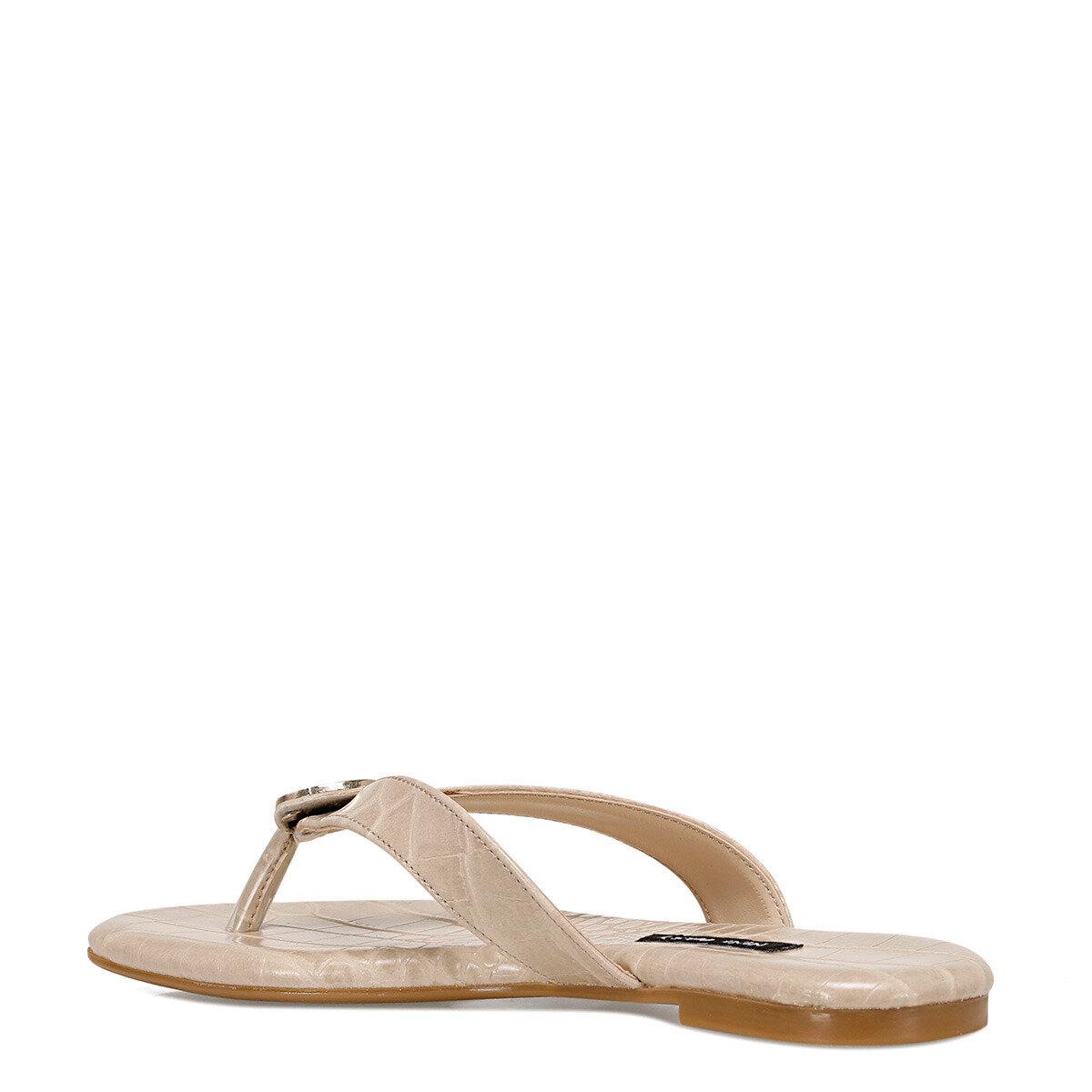 AVANA Bej Kadın Parmak Arası Sandalet