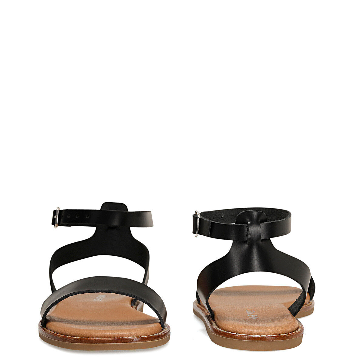 ABER Siyah Kadın Düz Sandalet