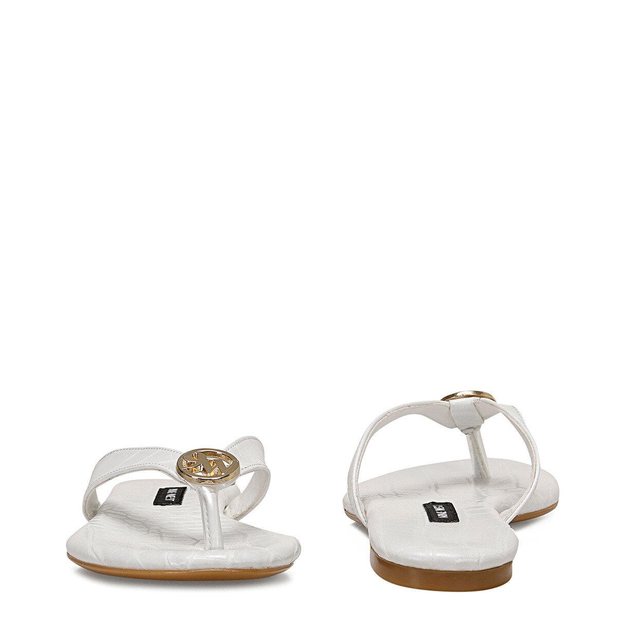 AVANA Beyaz Kadın Parmak Arası Sandalet