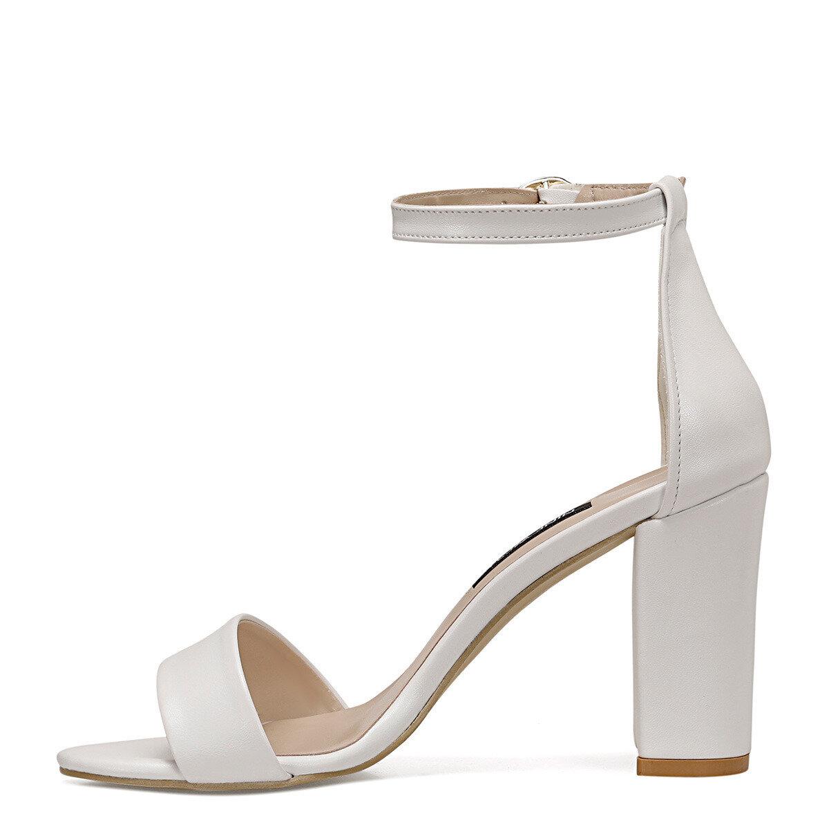 CALVI Beyaz Kadın Sandalet