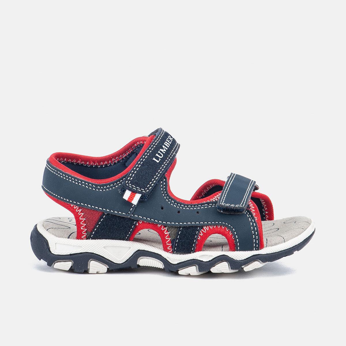 LEVI NAVY BLUE/RED Boy Sandals