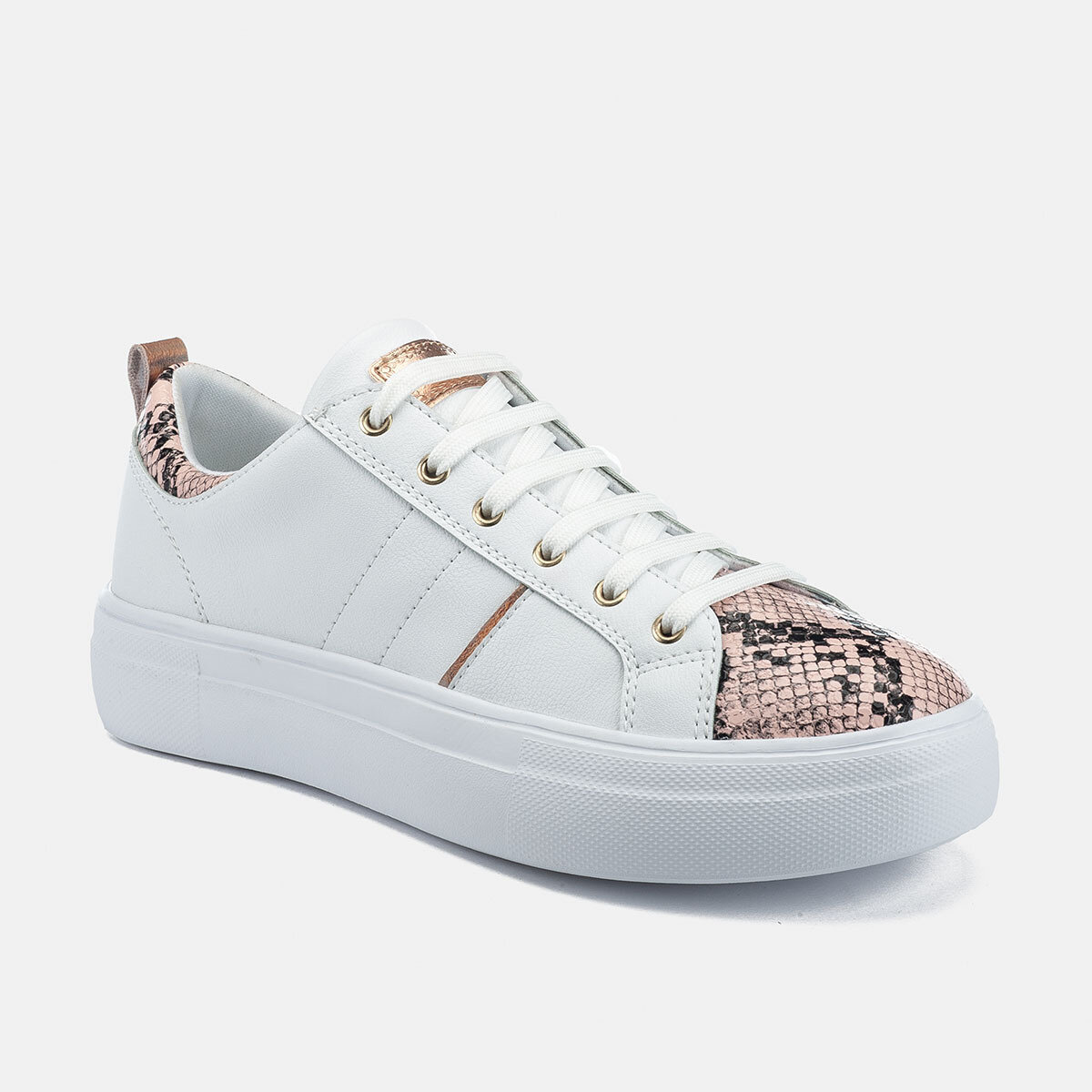 DORIS WHITE/PYTHON Woman Sneakers