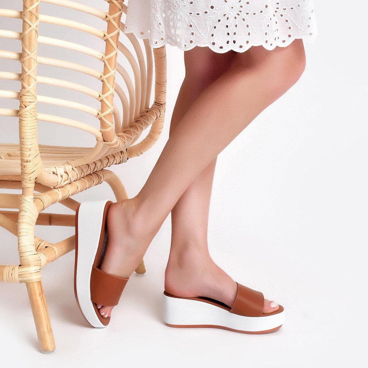 HALUNA Taba Kadın Dolgu Topuk Terlik