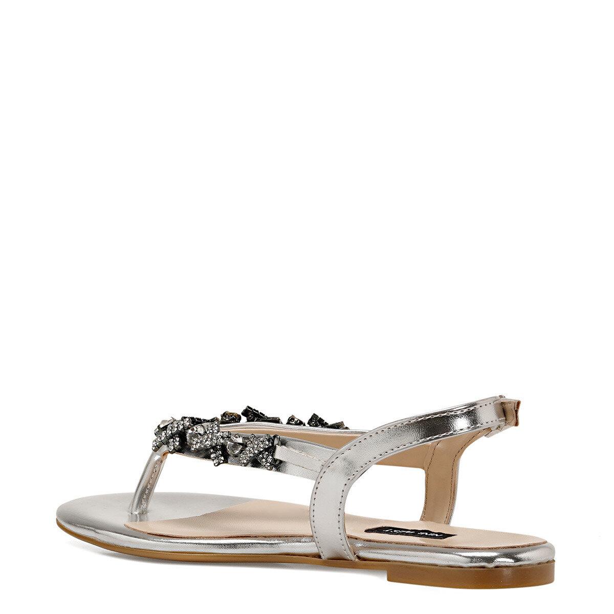 ADALIA Gümüş Kadın Parmak Arası Sandalet