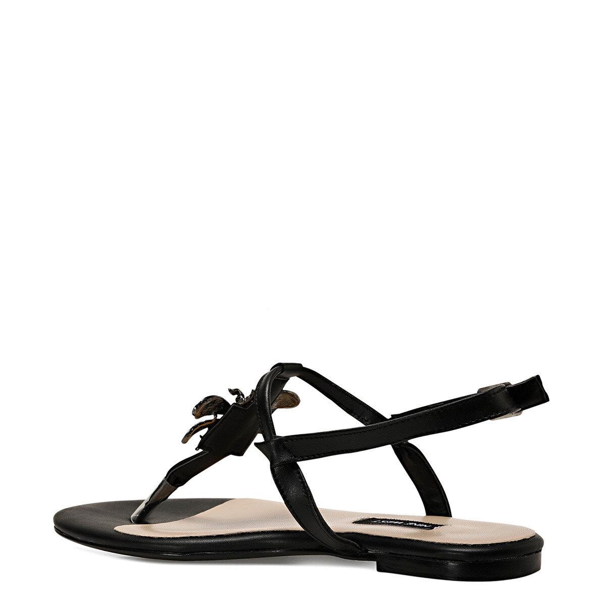ALEN Siyah Kadın Sandalet