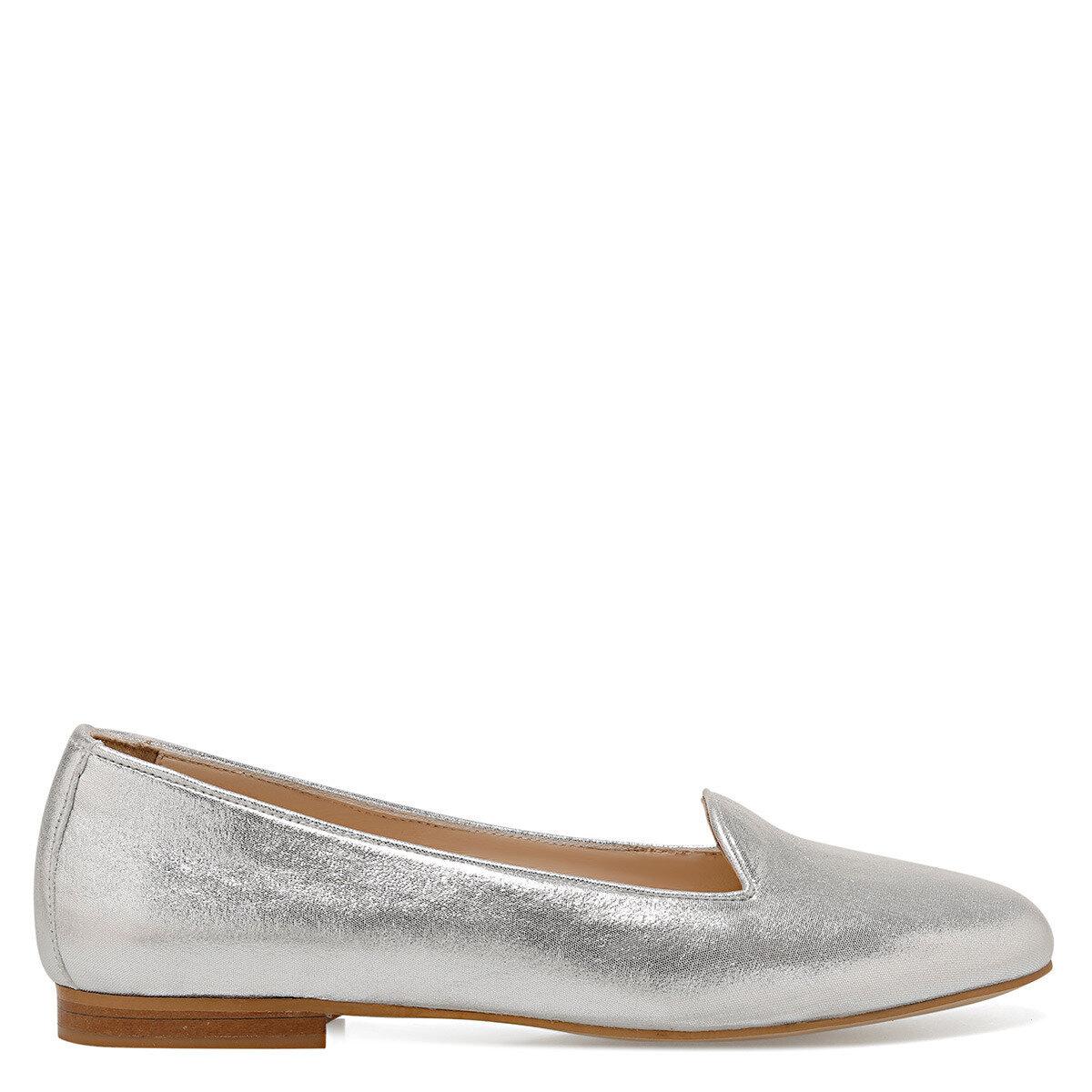 YODA Gümüş Kadın Loafer Ayakkabı
