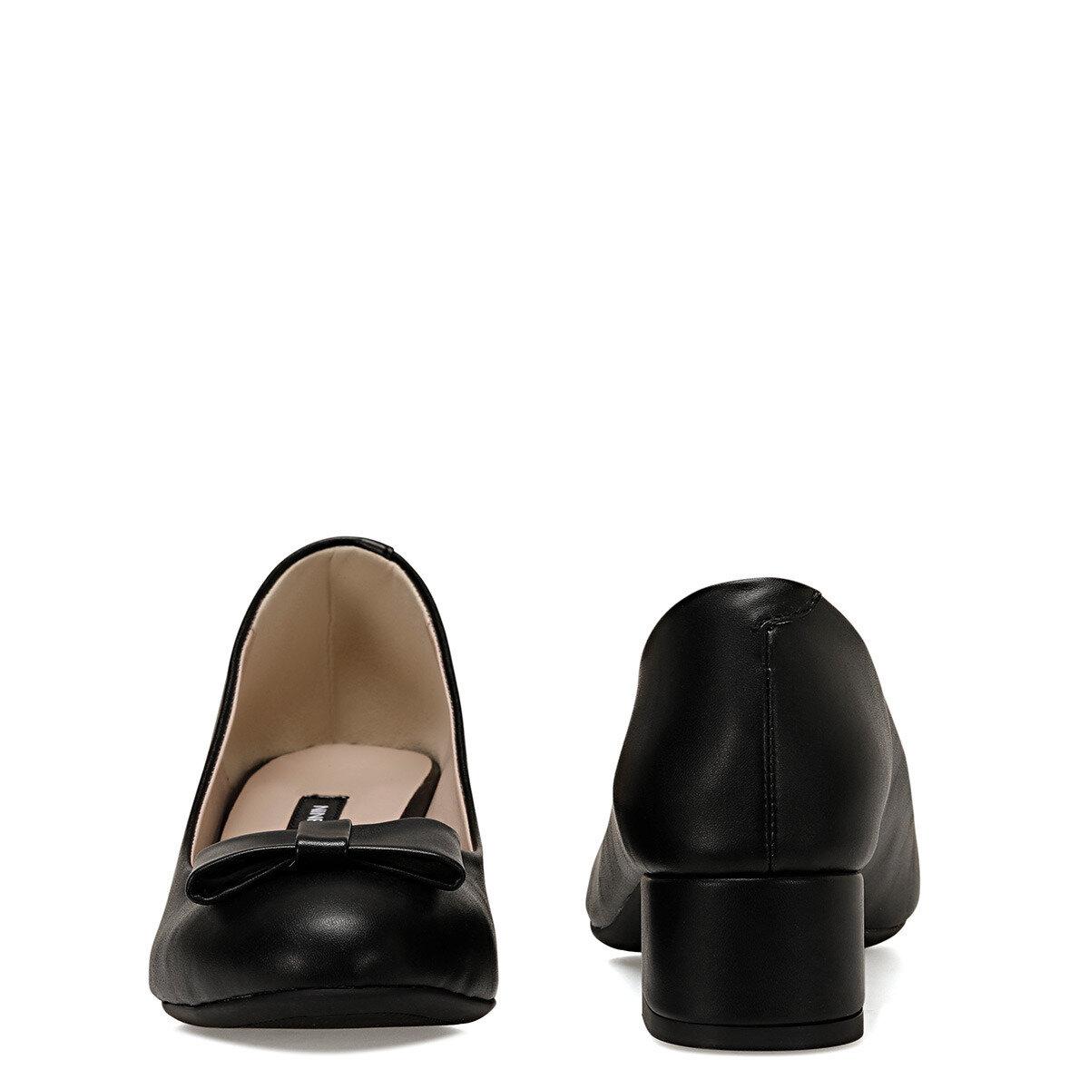 LENIO Siyah Kadın Topuklu Ayakkabı