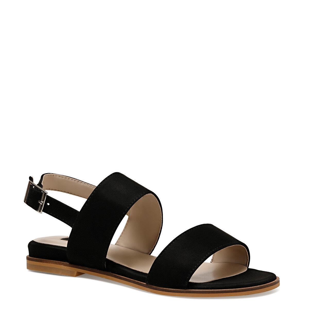 BARDENO Siyah Kadın Düz Sandalet