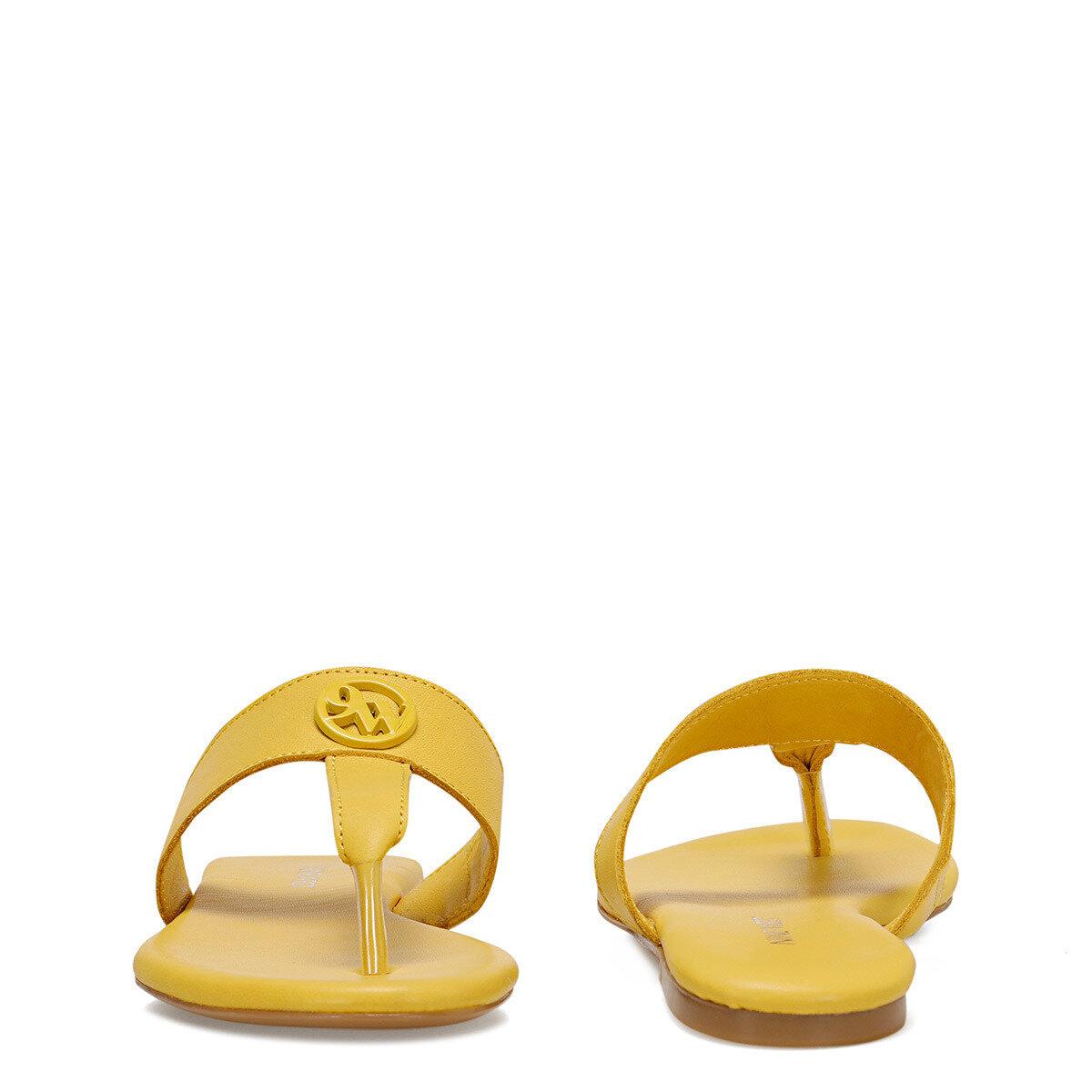 AVA Sarı Kadın Parmak Arası Terlik