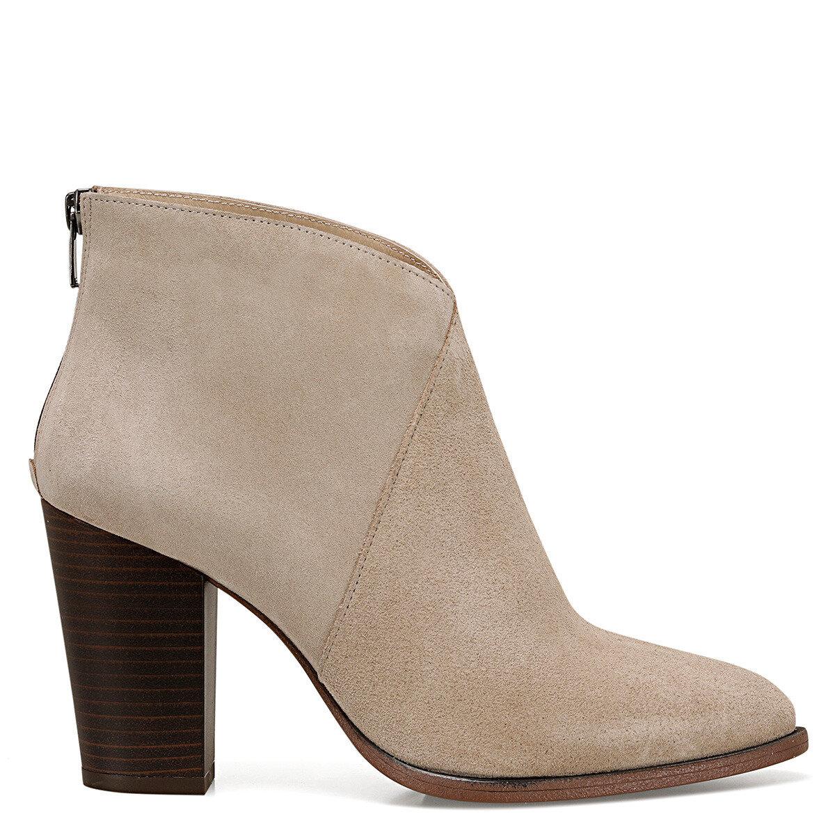 FELA Kum Rengi Kadın Topuklu Bot