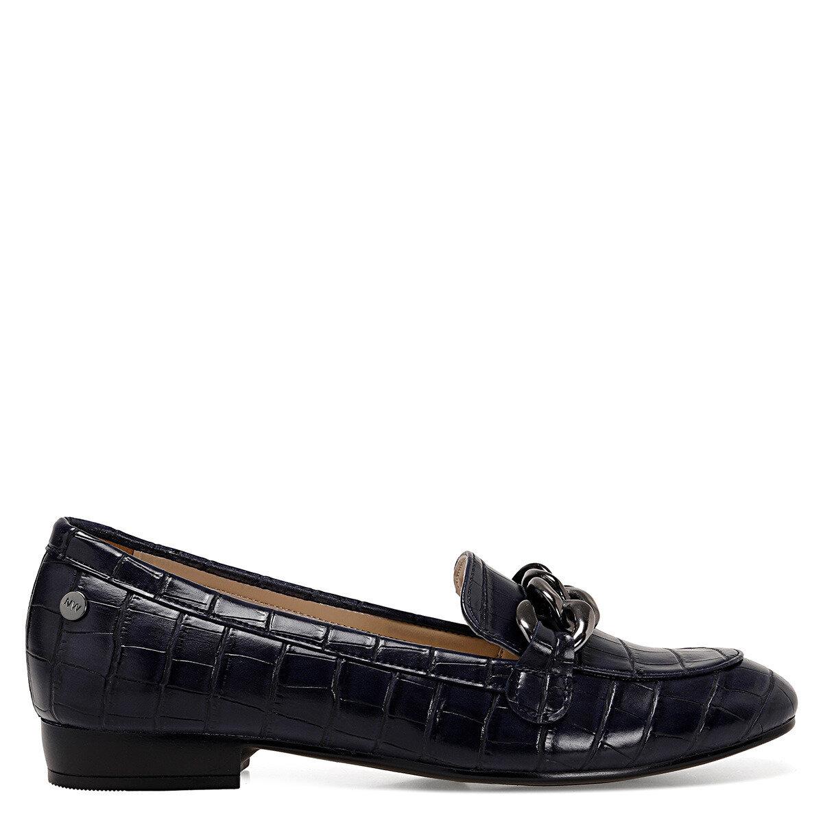 CROMA Lacivert Kadın Loafer Ayakkabı