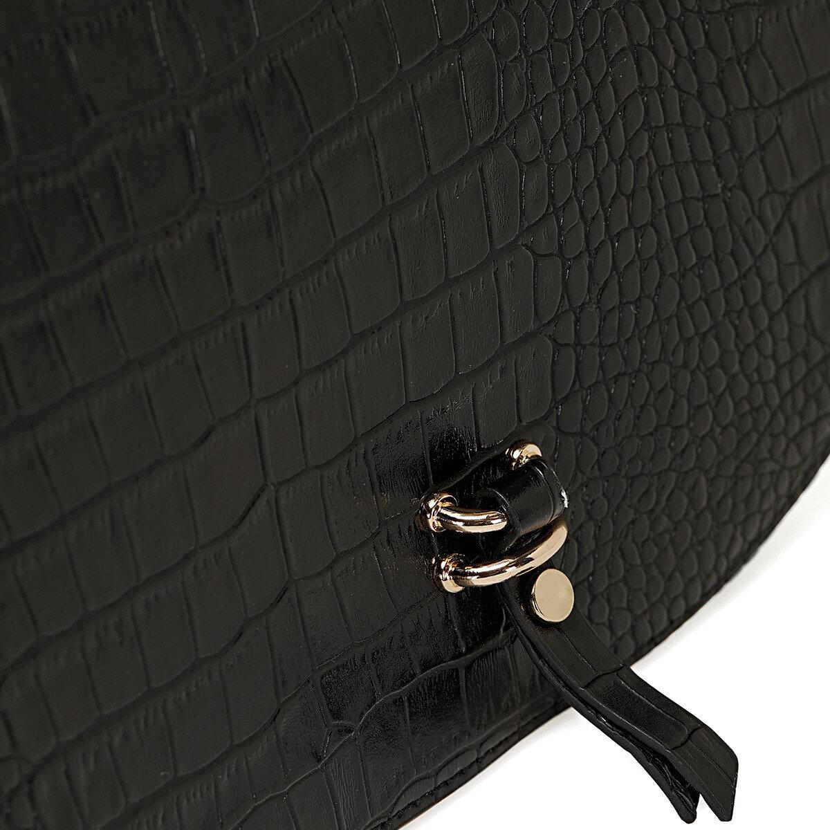 HORS Siyah Kadın Çapraz Çanta