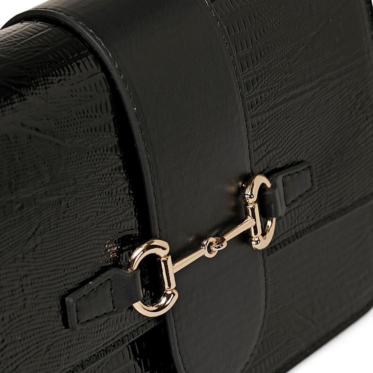 BERNE Siyah Kadın Çapraz Çanta
